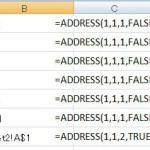 [Excel関数] ADDRESS -セルのアドレスを取得- -検索/行列関数-