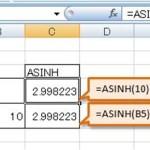 [Excel関数] ASINH – 数値の逆双曲線正弦を返す。 – 数学/三角関数 –