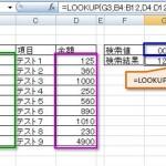 [Excel関数] LOOKUP – 指定される文字列への参照を返す。 -検索/行列関数-