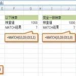 [Excel関数] MATCH – 指定したセルの範囲を検索し、その項目の相対的な位置を返します。 -検索/行列関数-