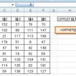 [Excel関数] OFFSET – 指定された行数・列数だけシフトした位置にあるセル範囲の参照を返す -検索/行列関数-